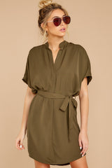 5 Around The Clock Olive Green Dress at reddress.com