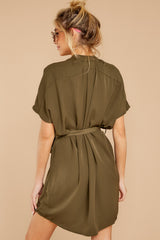8 Around The Clock Olive Green Dress at reddress.com