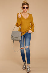 2 Time For This Goldenrod Sweater at reddressboutique.com