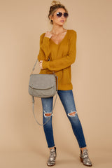 3 Time For This Goldenrod Sweater at reddressboutique.com
