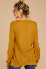8 Time For This Goldenrod Sweater at reddressboutique.com