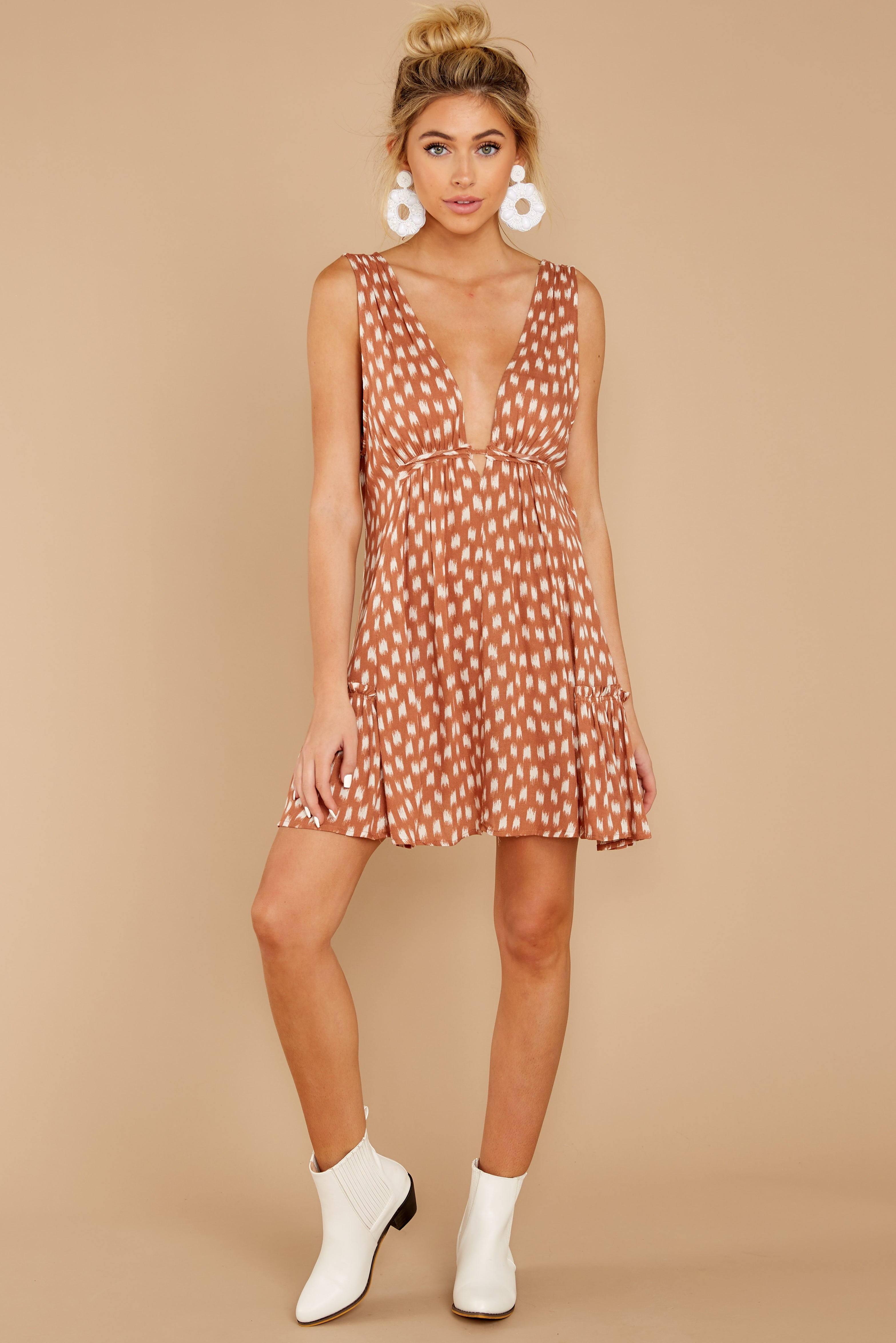 3 Wishful Thinking Ginger Print Dress at reddressboutique.com