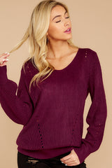 6 Time For This Burgundy Sweater at reddressboutique.com