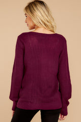 8 Time For This Dark Sangria Sweater at reddress.com