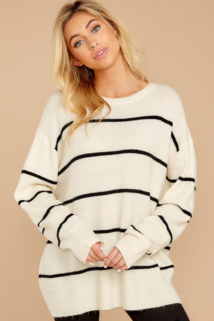 2 Off To Newport Brick Stripe Sweater at reddressboutique.com