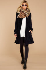 3 The Cozychic Lite® Black Montecito Cardi at reddressboutique.com