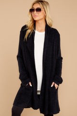 5 The Cozychic Lite® Black Montecito Cardi at reddressboutique.com