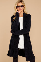 6 The Cozychic Lite® Black Montecito Cardi at reddressboutique.com