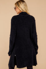 9 The Cozychic Lite® Black Montecito Cardi at reddressboutique.com