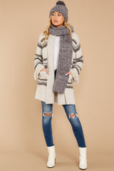 3 Meet Me Inside Oatmeal Multi Stripe Cardigan at reddressboutique.com