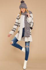 1 Meet Me Inside Oatmeal Multi Stripe Cardigan at reddressboutique.com
