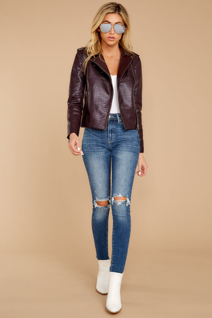 1 Walk Of Fame Black Vegan Leather Jacket at reddressboutique.com