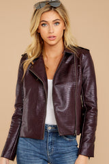 Cool Rider Dark Purple Vegan Snakeskin Jacket