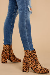4 Must Be Famous Leopard Ankle Booties at reddressboutique.com