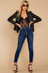 11 Throwback And Smile Black Vegan Leather Jacket at reddressboutique.com