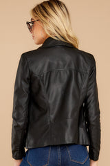 10 Throwback And Smile Black Vegan Leather Jacket at reddressboutique.com