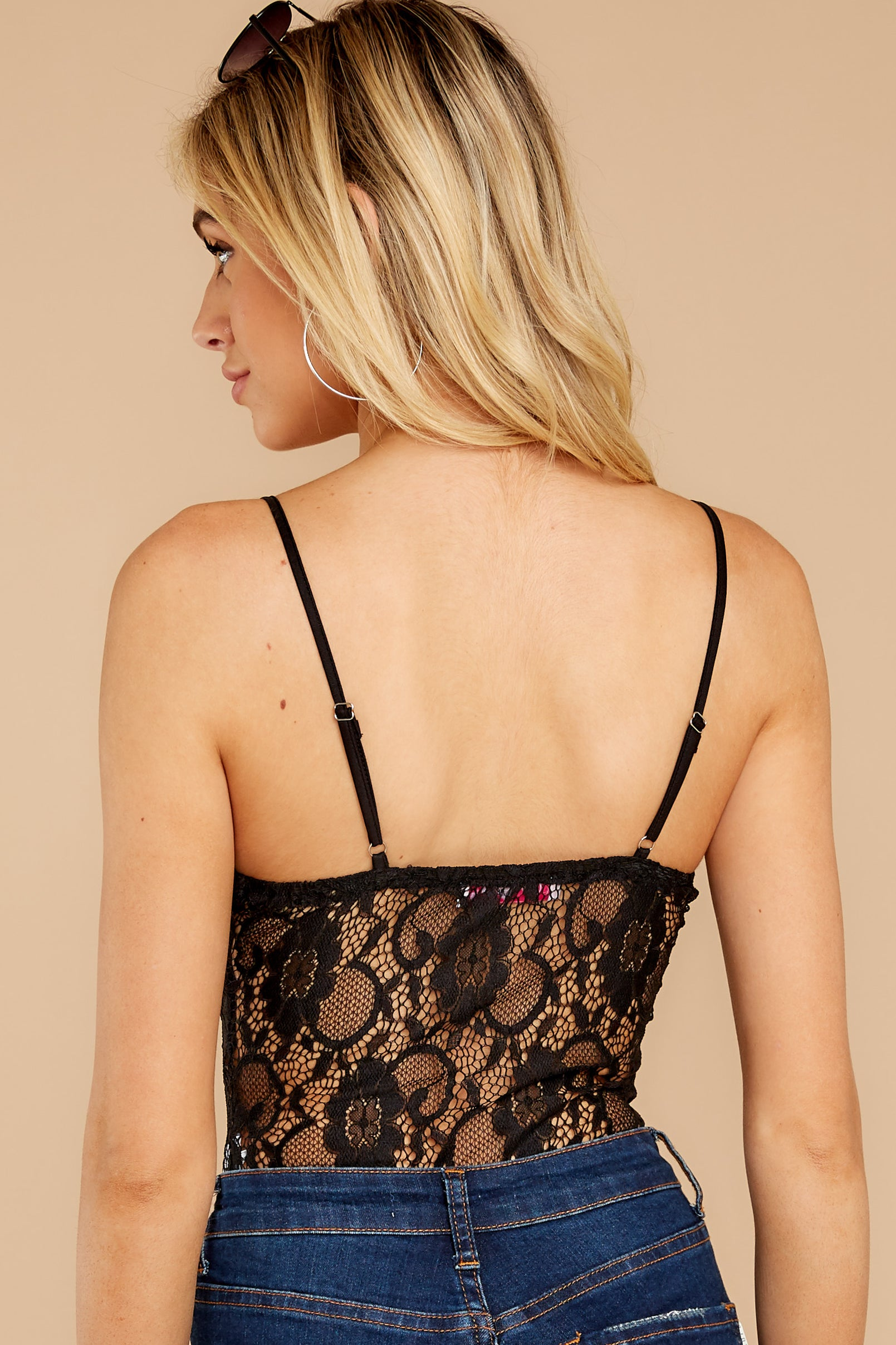8 Mistress Of Mystery Black Lace Bodysuit at reddressboutique.com