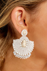 1 Thinking It Through White Earrings at reddressboutique.com