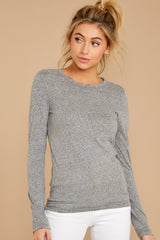 4 The Heather Grey Triblend Long Sleeve Crew Tee at reddress.com