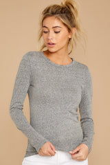 5 The Heather Grey Triblend Long Sleeve Crew Tee at reddress.com