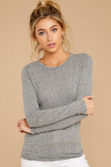 7 The Heather Grey Triblend Long Sleeve Crew Tee at reddress.com