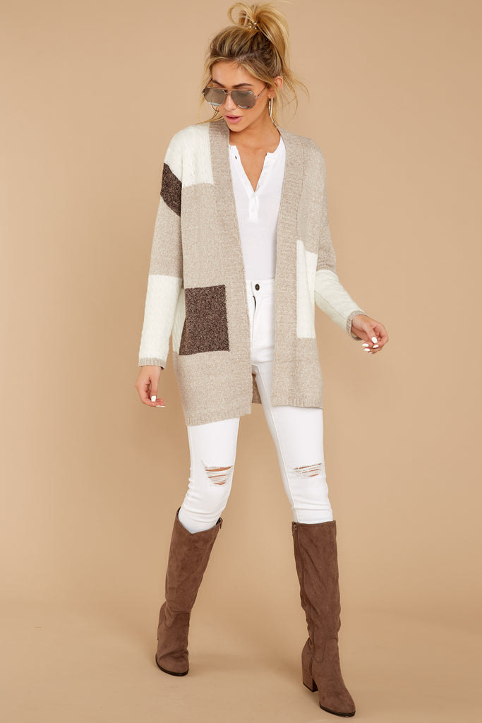 7 Falling For Adventure Tan Multi Stripe Coat at reddressboutique.com