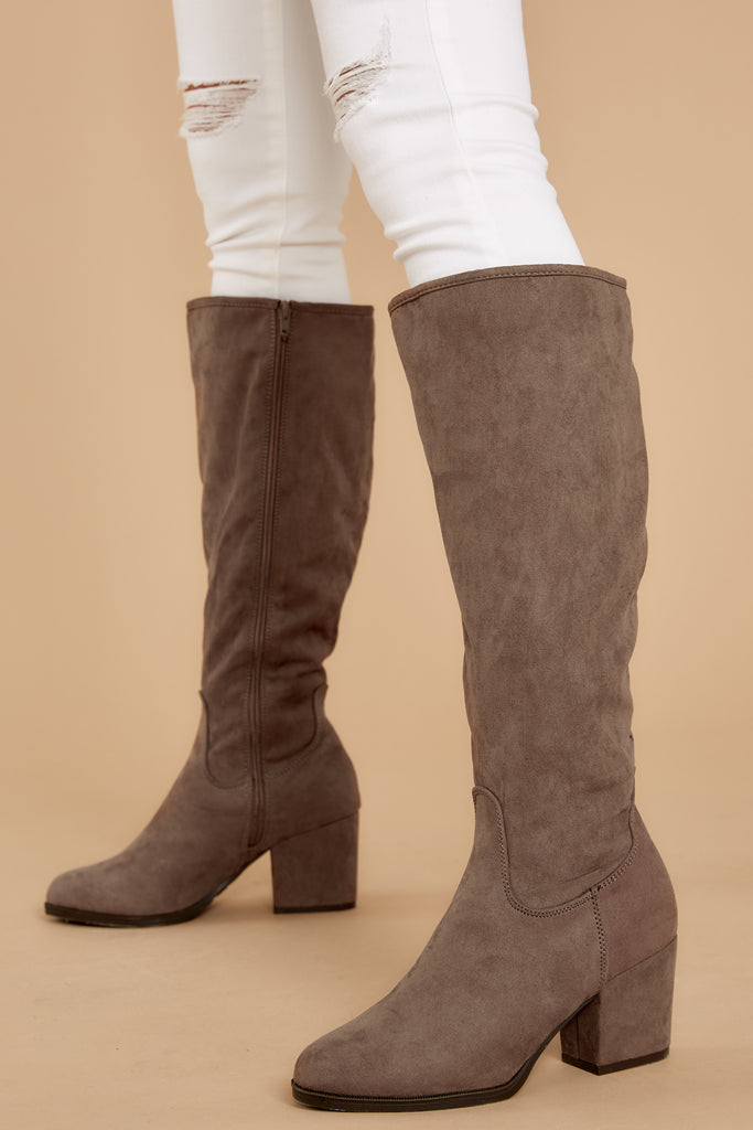 5 Great Strides Taupe Knee High Boots at reddressboutique.com