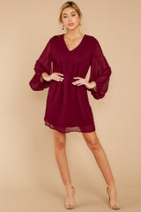 1 Claim To Fame Burgundy Dress at reddress.com