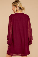 8 Claim To Fame Burgundy Dress at reddress.com