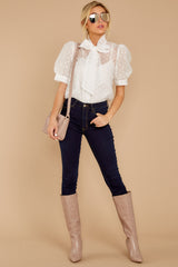 2 Timeless Ties White Polka Dot Top at reddressboutique.com