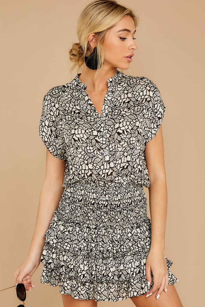 1 Freelance Dreamer Charcoal Print Dress at reddressboutique.com