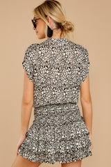 8 Tiers Of Joy Black And White Print Dress at reddressboutique.com