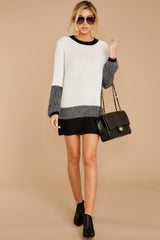 1 City Chic White Multi Sweater Dress at reddressboutique.com