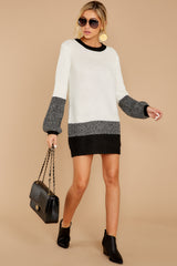 2 City Chic White Multi Sweater Dress at reddressboutique.com