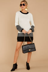 3 City Chic White Multi Sweater Dress at reddressboutique.com