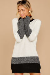 6 City Chic White Multi Sweater Dress at reddressboutique.com