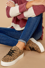 4 Lead Runner Cheetah Print Sneakers at reddressboutique.com