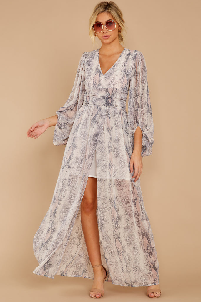 3 Spring In Morocco Blush Pink Print Maxi Dress at reddressboutique.com