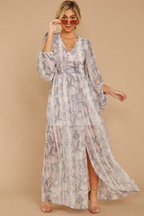 Coming Through Blush Multi Snake Print Maxi Dress