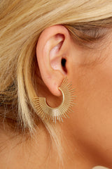 1 Blaze Gold Hoop Earrings at reddress.com