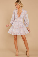 3 Make It A Date Night Light Pink Floral Print Dress at reddress.com