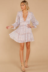 4 Make It A Date Night Light Pink Floral Print Dress at reddress.com