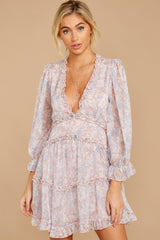 5 Make It A Date Night Light Pink Floral Print Dress at reddress.com