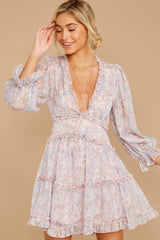 6 Make It A Date Night Light Pink Floral Print Dress at reddress.com