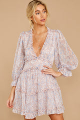 7 Make It A Date Night Light Pink Floral Print Dress at reddress.com