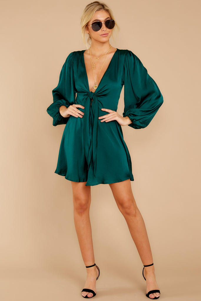 Brink Of Falling Emerald Green Dress by One And Only Collective