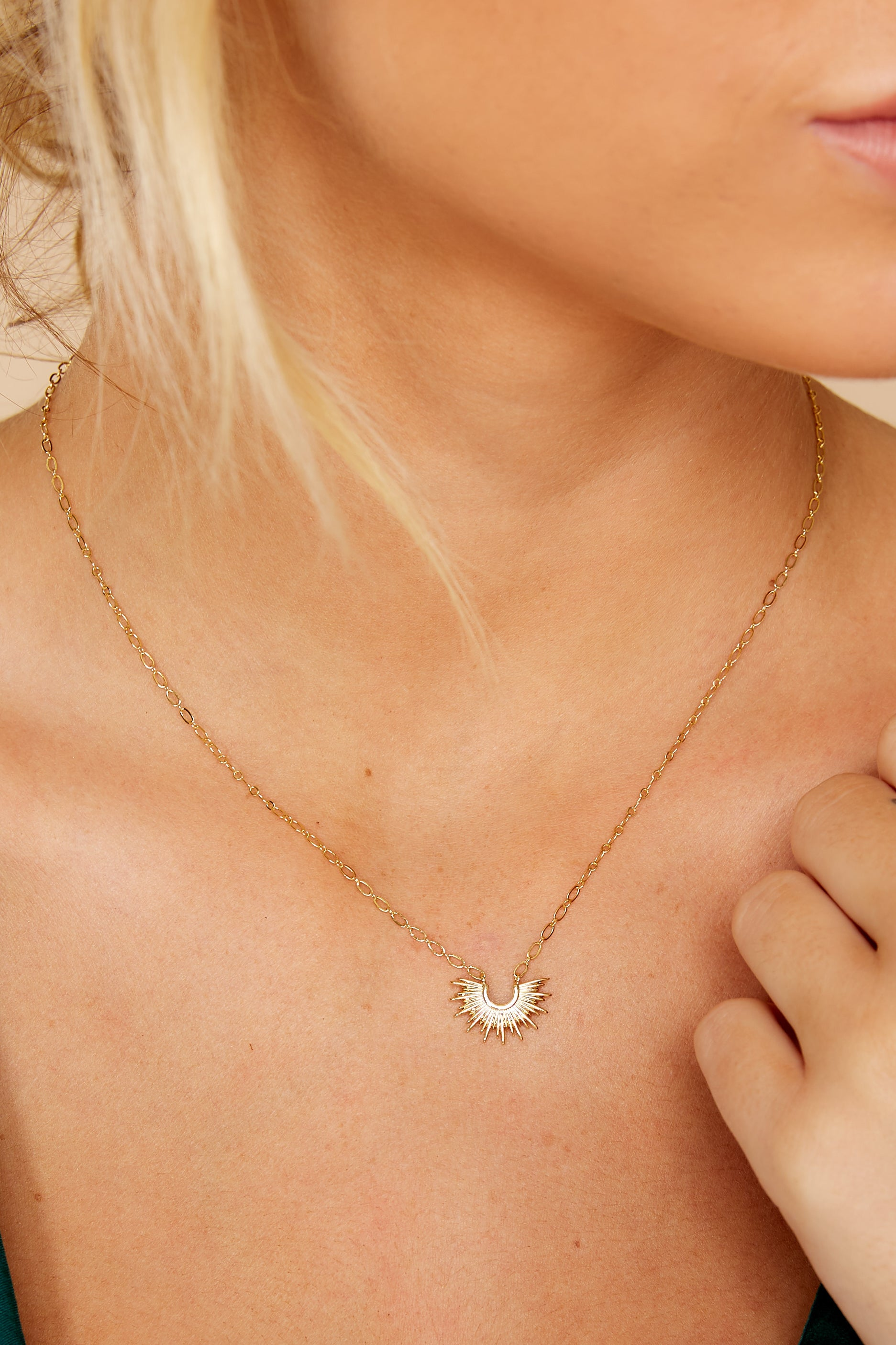 Mini Blaze Gold Necklace
