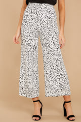1 On The Lookout White Cheetah Print Pants at reddress.com