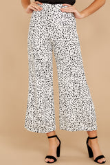 2 On The Lookout White Cheetah Print Pants at reddress.com
