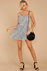 2 Pretty Polished White Cheetah Print Romper at reddressboutique.com